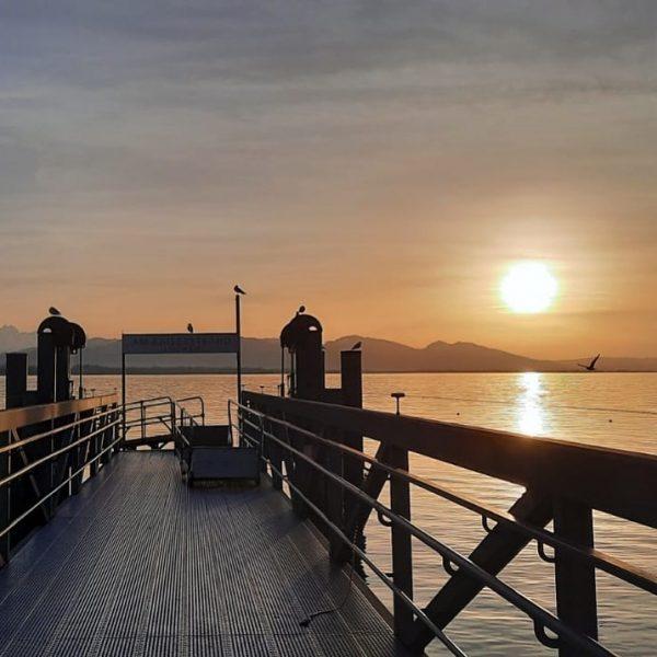 Meet me where the sun sets. 🌅 #lochau #kaiserstrand #seehotel #sunset #mood #evening ...