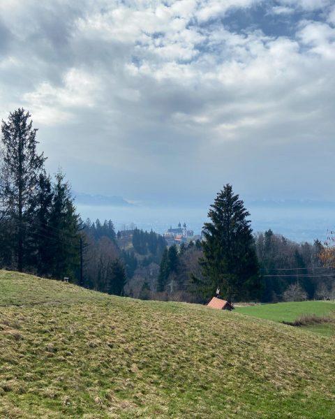 Walking through the ravine Dellen to the pilgrimage church Maria Bildstein. What have ...