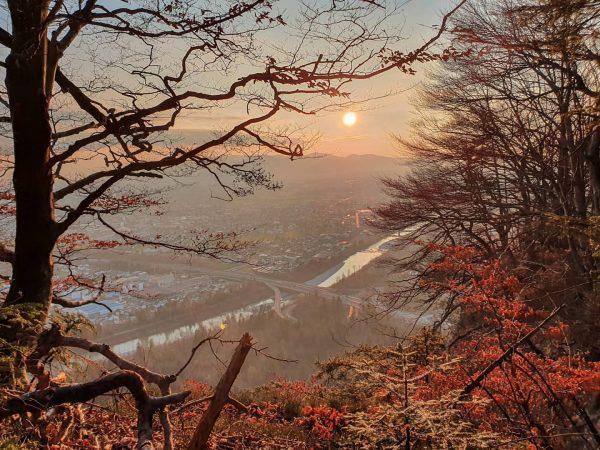 Sonnenuntergang am Känzele in Bregenz 🥰 🌅 - nicht nur vom Klettersteig wunderschön, ...