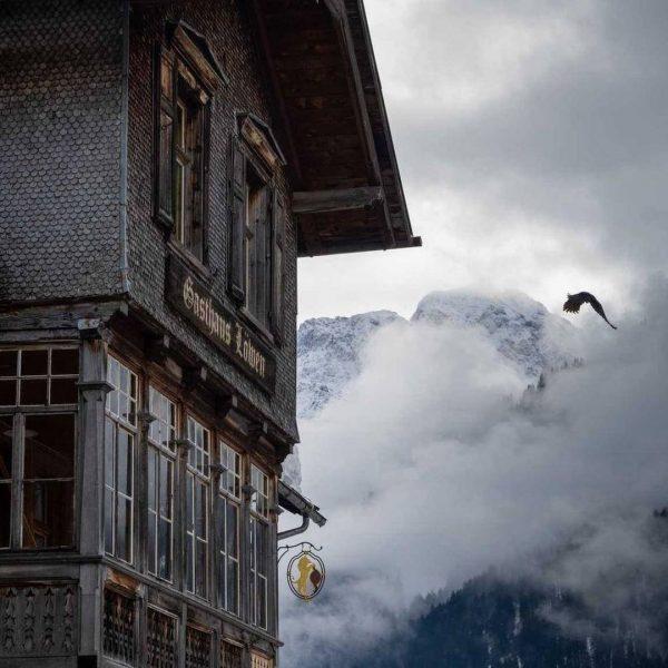 Wir wünschen einen gemütlichen Sonntag! 📸 @lutz.werner.at #winter #landschaft #landscape #architektur #architecture #auimbregenzerwald ...