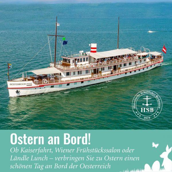 Verbringen Sie schöne Stunden zu Ostern an Bord der Oesterreich. Unsere speziell geschulte ...