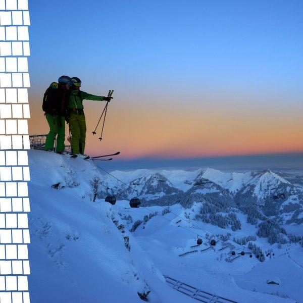 Ein Blick um's Eck zeigt uns die Freuden eines frühen Wintermorgens am Berg. Nach den ergiebigen Schneefällen...