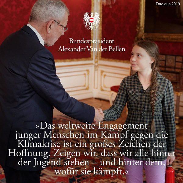 @gretathunberg ist eine inspirierende, entschlossene und mutige junge Frau. Heute, beim weltweiten 🌍 ...