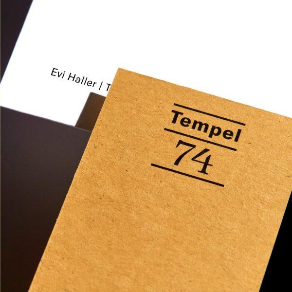 Tempel74. Erscheinungsbild und Website für zwei Apartmenthäuser in Mellau im Bregenzerwald. In einem ...