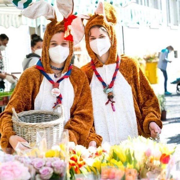 Eier, Osterschinken, Osterlämmle und natürlich bunte Frühlingsblumen: Nach dem gestrigen Ostermarkt können die ...