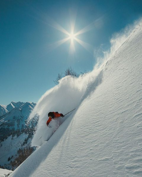 Powder alert in the Allgäu alps. Like on this picture, shot exactly 6 ...