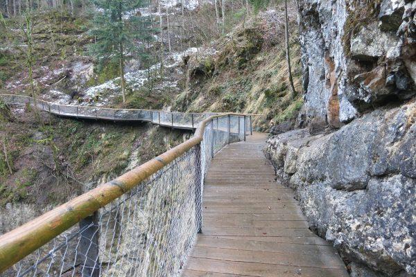 Die #Rappenlochschlucht ist zwischen #Gütle bis hinauf zur Rappenlochbrücke wieder begehbar. In den ...