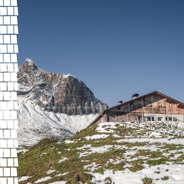 Ein Blick um's Eck zeigt uns die Alpe Obere, wie sie langsam ihr Winterkleid verliert. Bald wird...