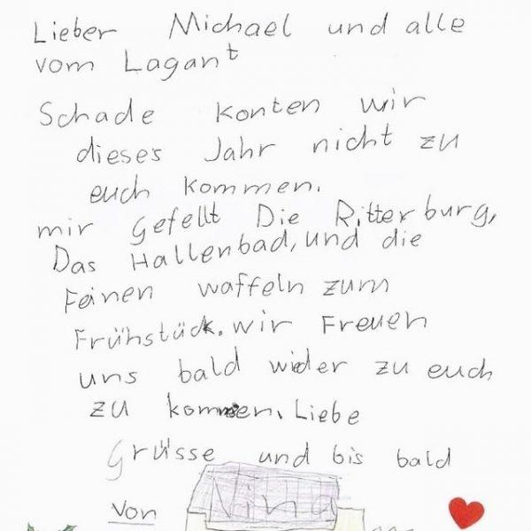 Wir haben Post bekommen 😍 🌼💛 Liebe Nina, wir freuen uns auch schon ...