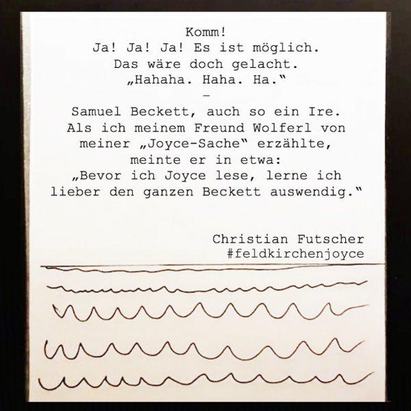 #feldkirchenjoyce #futschersjoycevergnügen #samuelbeckett #ja #jamesjoyce #jamesjoycepassage #ire #enjoyfeldkirch @feldkirch #literaturvorarlberg #literaturist #literaturhausvorarlberg