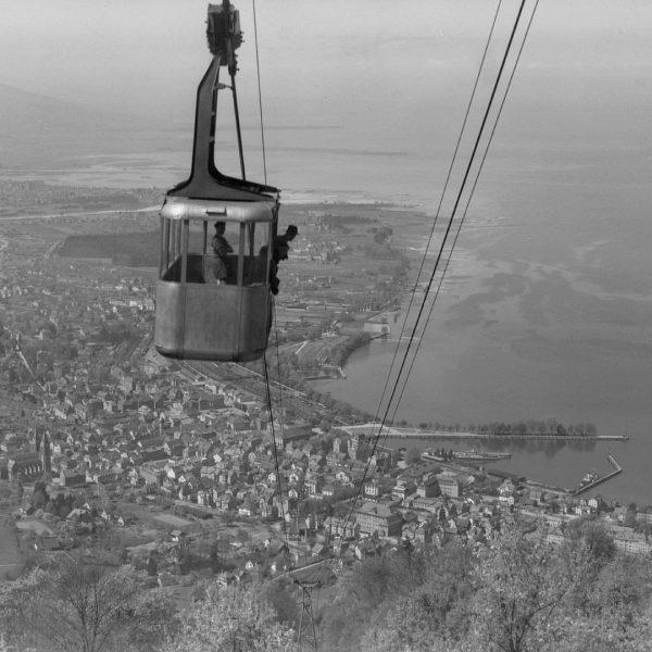 #tbt swinging into the weekend like in 1948 #pfänderbahn #springvibes #visitbregenz #myvorarlberg #visitvorarlberg ...