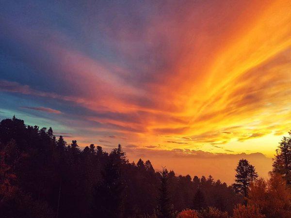 Der Himmel brennt 😍 #oneyearago #vorarlberg #pfänder #views #justmagic #love #coloursofnature #colours #dayslikethis #eveningvibes #friendships #hoffentlichbaldwieder Pfänder