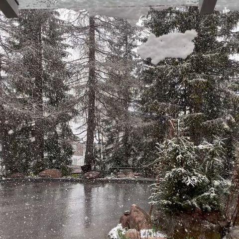 Leise rieselt der Schnee. Tolles Gastspiel von König Winter ❄️☃️❄️#hotellech #residenzchesarosa #unser_arlberg #arlbergwonderland #lechzuers #snowlover #bergfrühling #mai...