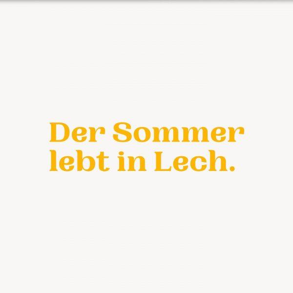 Der Sommer lebt in Lech. Lech Zürs am Arlberg