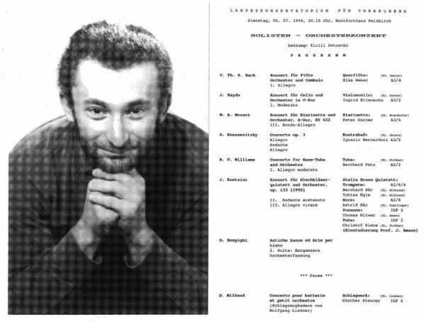 Herausragend!👏 Dirigent Kirill Petrenko und ehemalige 👨🎓Student des Vorarlberger Landeskonservatoriums wurde als Dirigent ...