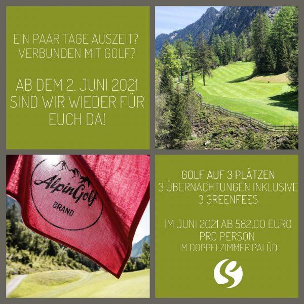 Ein paar Tage Auszeit? Verbunden mit Golf? Ab dem 2. Juni 2021 sind ...