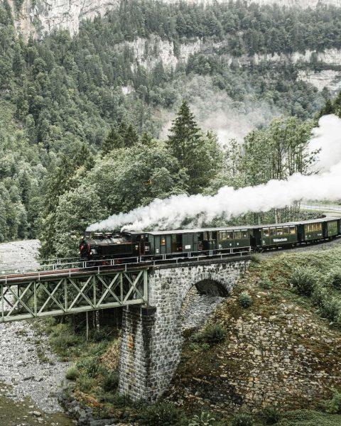 """Das """"Wälderbähnle"""" ist eine sorgsam gepflegte Nostalgiebahn mit historischen Diesel- oder Dampflokomotiven. Ab ..."""