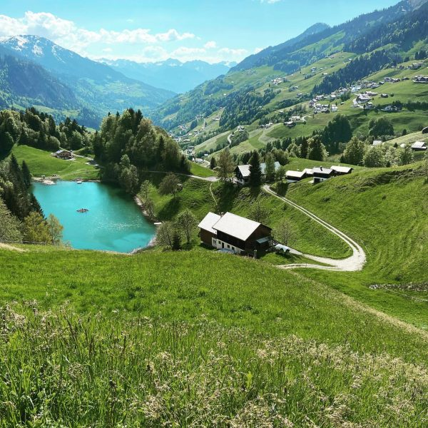 Seewaldsee in Fontanella made after the descent of the mountain Blasenka #bregenzerwald #austria ...