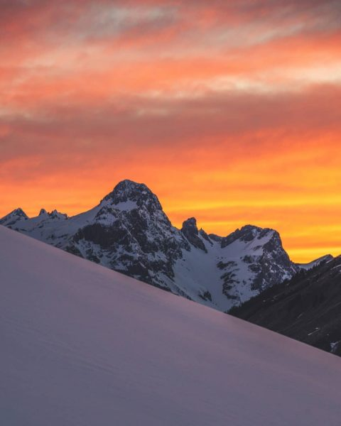 Last winter post for a while: This was probably one of the best sunsets this winter, although...