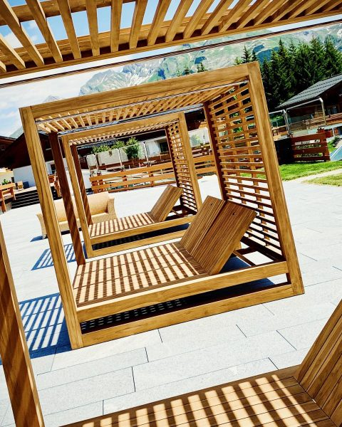 Here's a little sneak preview of our new pool-side lounge concept! Private cabana ...