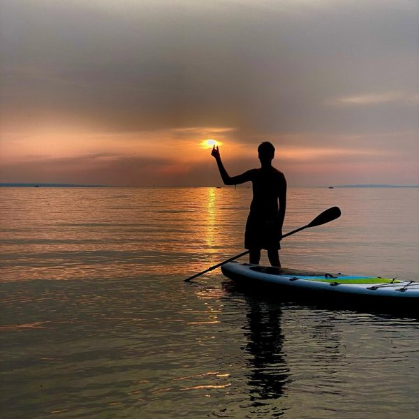 Sunset in Vorarlberg. Great time at the Rohrspitz(Lake Constance) with friends. Love SUP. ...