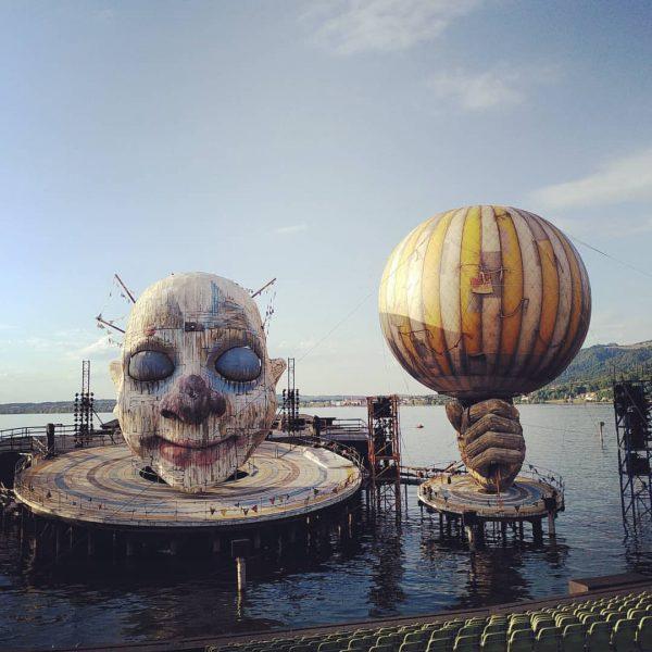Das Foto aus Bregenz darf natürlich nicht fehlen. Da war der Ballon ganz frisch wieder an seinem...