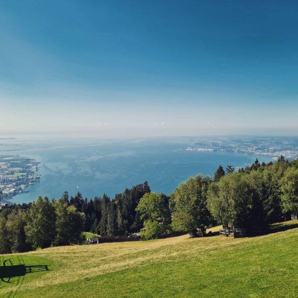 1.062 Meter ist der Pfänder hoch und gilt als Hausberg von Bregenz. Der Lohn für den Aufstieg...