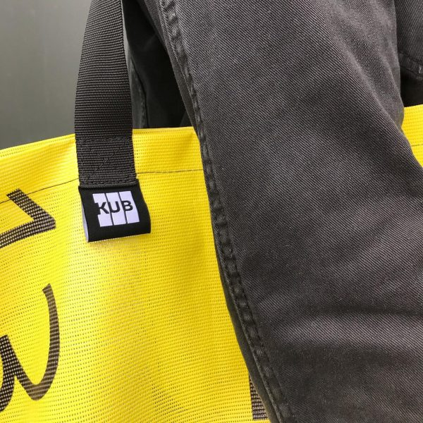 The new KUB beach bags are: 1. made out of recycled KUB banners, ...