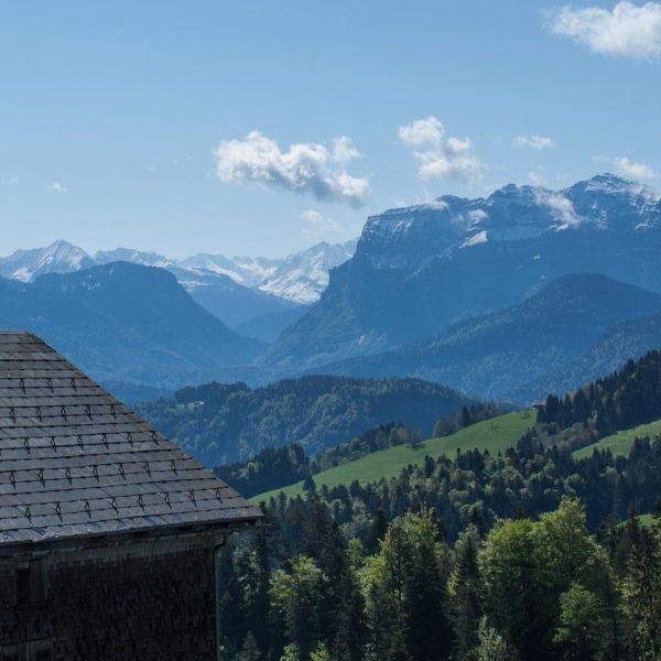 Dieses Bergpanorama lädt zum Natur genießen und entspannen ein 🌱 #unservorsaess #bödele #schwarzenberg ...