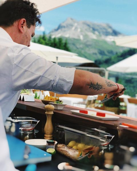 Kitchen with a view. @BISTRO by Griggeler Stuba . . #lechzürs #finedininglech #finedininglovers ...