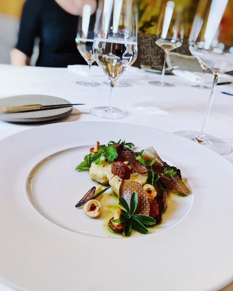 Cauliflower. Mushroom. Pearl Onion. Hazelnut. Silbermantle. . . #lechzürs #finedininglech #finedininglovers #champagne #burgundy ...