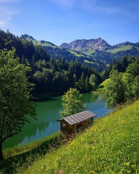 Toller Familienausflug mit der V-Card zum Seewaldsee im @grosses_walsertal . Badesachen nicht vergessen! 😄 #fontanella #seewaldsee #bummelzug...