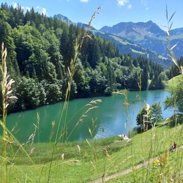 Erfrischende Abkühlung am Seewaldsee - ideal an heißen Sommertagen 📸 Dajana Baumgartner #grosseswalsertal #biosphaerenpark #fontanella #seewaldsee #visitvorarlberg...