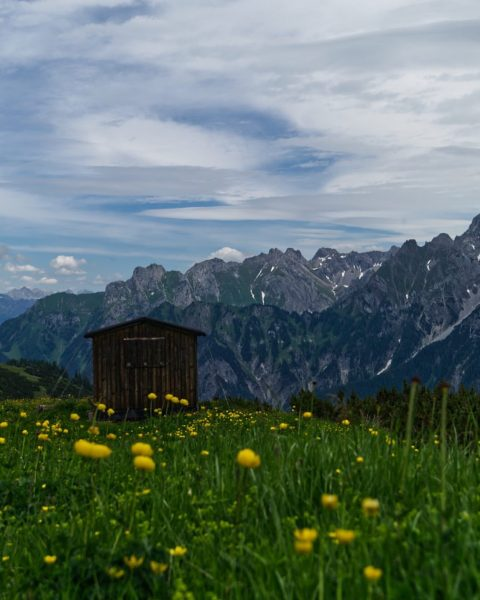 📍Amatschonjoch, Brandnertal . . A shelter in the mountains. Whats you'r favorite place ...