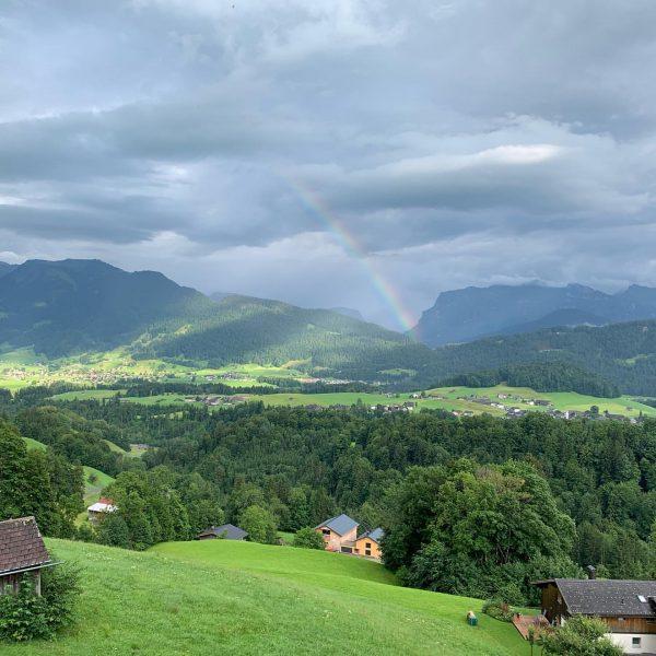 #nofilter #alpen #vorarlberg #regenbogen #rainbow Schwarzenberg im Bregenzerwald