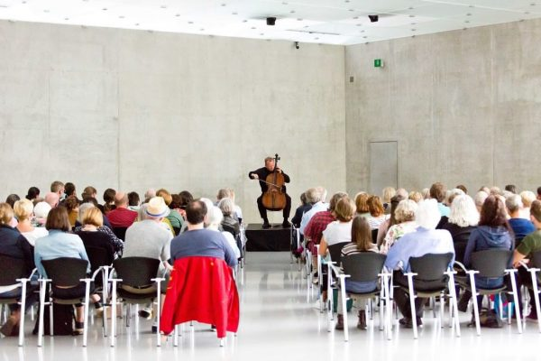 Mesmerizing! Christoph Stradner, principal cellist of the Wiener Symphonics, at the day of ...
