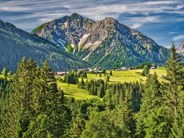 Weiter geht's zur Höflealpe (Bild 5), durch das Wild- und Waldgebiet der Gottesackerwände. ...
