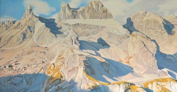 Nino Malfatti Die drei Türme (2.830 m) 2017, Öl/Leinwand 🖼 Zu sehen in ...