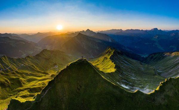 Early bird 😎 at Glatthorn mountain (2,133 m above sea level) #visitvorarlberg #myvorarlberg ...