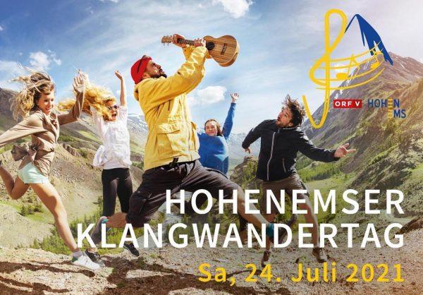 Klangwandertag in Hohenems. Am Samstag, den 24. Juli. Musik auf allen Gasthäusern und ...