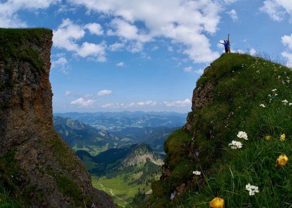 Tochter und Vater Ausflug auf den #diedamskopf @diedamskopf #visitbregenzerwald @visitbregenzerwald
