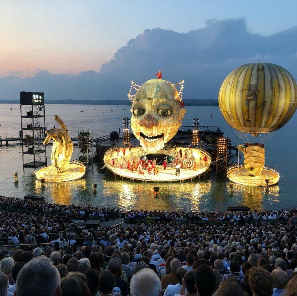Ein Sommermärchen: Rigoletto Premiere in Bregrenz. Traumhafte Kulisse. Festspielhaus Bregenz