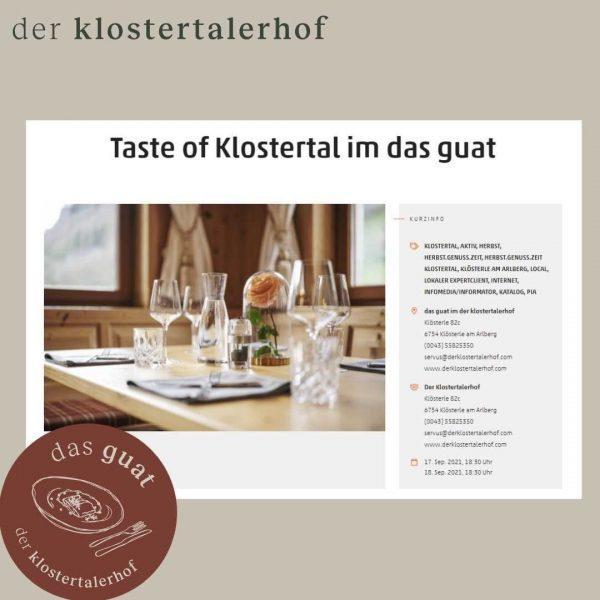 JETZT dein genussevent reservieren! 17. & 18.09. #dasguat #restaurant #derklostertalerhof #hotel #genussevent #genießen ...