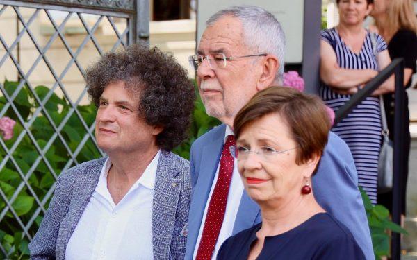 Netter Besuch im Museum am 23. Juli: Bundespräsident van der Bellen mit Gattin ...