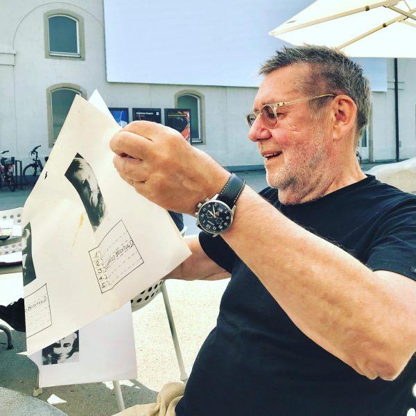 #gottfriedbechtold #reading #ownposter #1981 #galeriekrinzinger #unexpectedencounter #reoccurrence #kubcafe #kunsthausbregenz #kub #joy #july2021 #visitbregenz ...