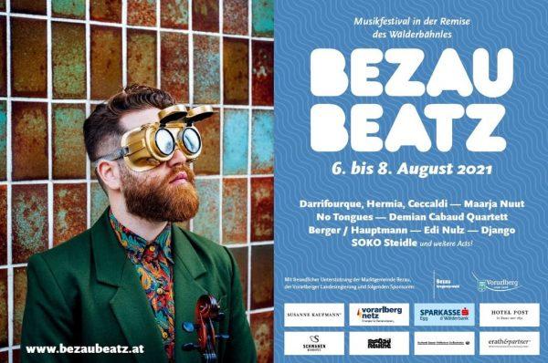 Bezau Beatz Festival vom 06. bis 08. August!!! Ausgesuchte Künstler spielen an besonderen ...