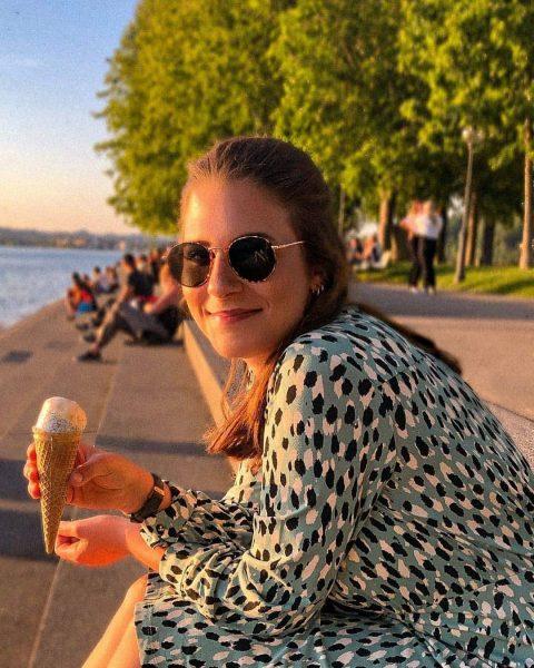 Das Molo in Bregenz, ein toller Platz um ein gutes Eis zu genießen ...