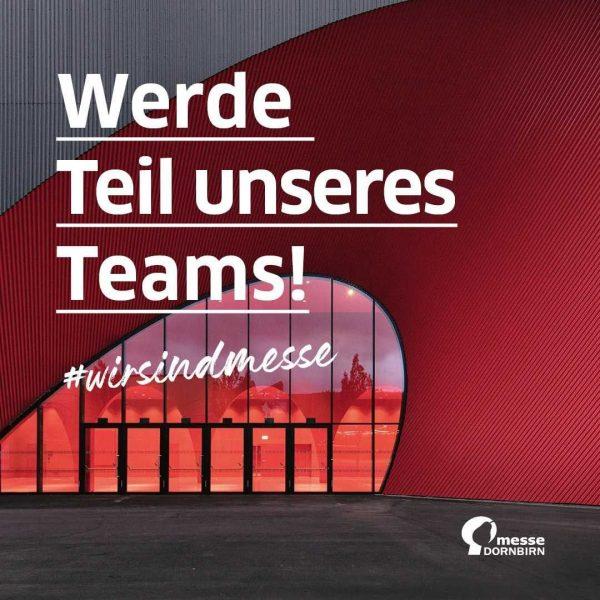 Ja, bei der Messe kann man auch arbeiten und unser Team braucht Unterstützung! ...