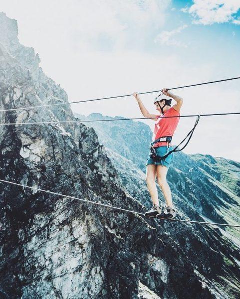 Klettersteig Liebhaber kommen im Montafon und vor allem in Gargellen voll auf ihre ...