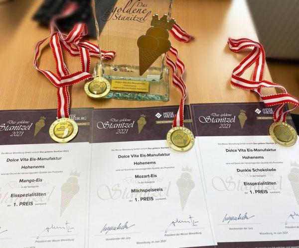 Hier sind sie - unsere 4 GOLDENEN 🥇 beim österreichweiten Speiseeis-Wettbewerb! 🎉 Es ...